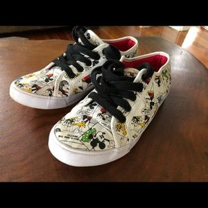 Disney Mickey Mouse Comic strip canvas sneakers